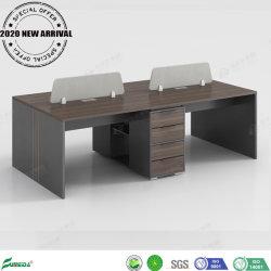 Nouvelle arrivée bureau moderne station de travail de bureau en bois de table de partition