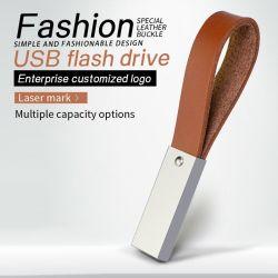 새로운 디자인 진짜 가죽 손목 밴드 USB 플래시 드라이브