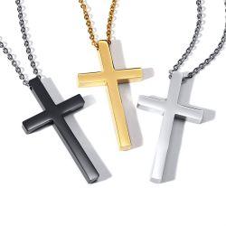 2019 Fashion Cruz de Jesus crucifixo Colar Ouro Preto Pendente Branco Prateado para colar Personalizado