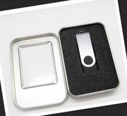 Faire pivoter le lecteur flash USB 128 Mo 1 Go avec boîte en métal pour pas cher Cadeaux promotionnels