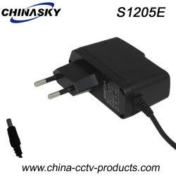 EUのプラグ(S1205E)が付いている12VDC 500mA CCTVのカメラ力のアダプター