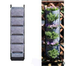 걸이형 수직 벽 장착형 식물 심기 자루백, 허브 가든 플래터 실외 실내 성장용 백