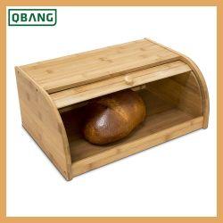 Contenitore di bambù di pane - bambù di bambù del custode 100% del pane di grande capienza di memoria dell'alimento della cucina del contenitore di pane della parte superiore di rullo del silos di immagazzinamento del pane del controsoffitto