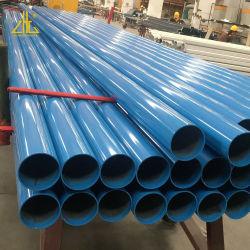 Pó colorido revestido de extrusão de alumínio tubos do tubo