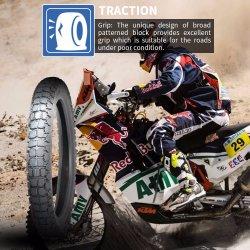 20 Yearsiso9001 usine Moto tout terrain professionnel Tubeless Dirt Bike Scooter ATV MRF/le pneu en caoutchouc pour Bajaj moto 3.00-18110/90-16 DS118