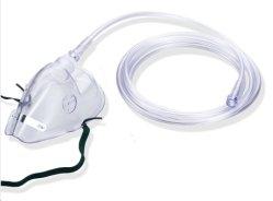 En PVC souple de qualité médicale confortable Masque d'oxygène portatif