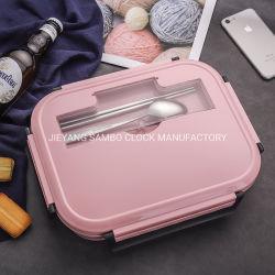 Big double couche personnalisée en acier inoxydable 304 Dîner Bento Boîte à lunch en plastique