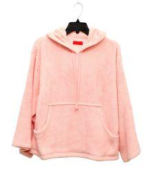 Jeune fille/Women's Solid Color Chandail de laine polaire de corail Fashion Hoodies