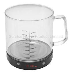 Alimento che pesa la scala elettronica della cucina di Digitahi con la tazza di misurazione 1.5L (SKE267)