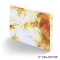 Onyx artificielle translucide Eclairage de panneau à LED pour panneau mural fausse l'albâtre