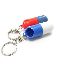 Casella della pillola di figura della capsula dell'ABS con l'anello portachiavi
