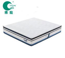 Móveis domésticos Ice-Skill Fabric com memória de gel e espuma de latex Pocket colchão de molas