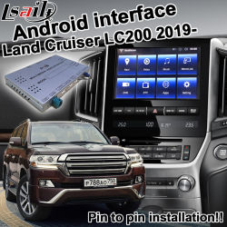 Lsailt androide Schnittstelle für Toyota-Land-Kreuzer Gxr Vxr LC200 2016-2019 wahlweise freigestelltes Carplay