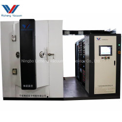 Chinese Vacuüm het Metalliseren Machine voor de Fabriek van de Installatie van de Deklaag van de Hulpmiddelen PVD van het Glassnijden