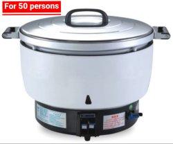 Gran cocina de arroz de gas de 10 litros con estirar el recipiente interior de aluminio de 50 personas.