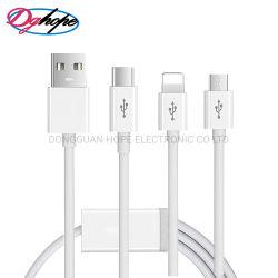 3 en 1 Date de transmission de type Micro-C câble d'éclairage