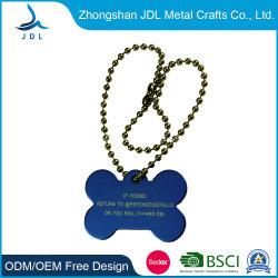 Сделано в Китае Custom Металлический хром Черные никелированные логотипа лазерной гравировкой Tag собак для мужчин