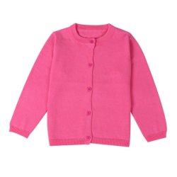 Broderie OEM tricoté bouton enfant enfants filles uniforme scolaire chandail d'hiver