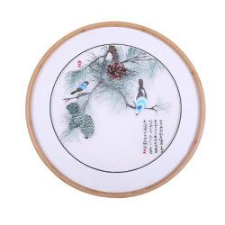 Modernes rundes Bambusfoto/Bilderrahmen für Haus/Büro/Schlafzimmer