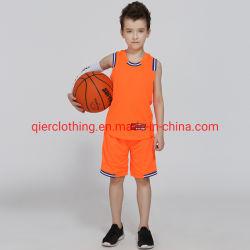 Breathable Sportkleidung-Kind-Basketball-Jersey-Klage Baketball T-Shirt/Weste und Kurzschlüsse