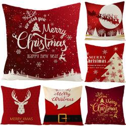 بالجملة [هوت-سلّينغ] عيد ميلاد المسيح زخارف فندق مطعم عطلة وسادة حالة مربع أريكة وسادة تغذية منزل نسيج