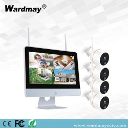 4CH 1080P Wireless WiFi сигналов тревоги видеонаблюдения NVR комплекты с 10-дюймовый сенсорный экран с камер видеонаблюдения поставщиков
