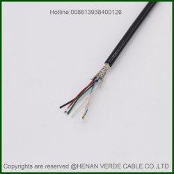 Segmento flexível de par trançado isolado PVC as conservas de fio de cobre entrançado blindado do Cabo de Controle