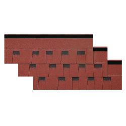 세륨은 섬유유리에 의하여 강화된 아스팔트 지붕널 다중층 착색한 유형 별장 아스팔트 루핑 천장 지붕널을 증명했다