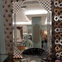 أوروبا أسلوب جديدة تصميم بلورة يسحق ماس زخرفيّة جدار مرآة