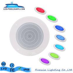 18W Lampe LED étanches IP68 Super Slim 10mm d'épaisseur de moule privé Piscine lumière à LED