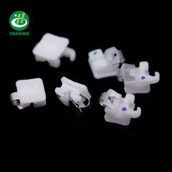 Orthodontische Ceramische zelf-Afbindt Steunen met de Groef van het Metaal