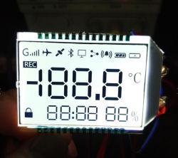 Cinzento monocromático personalizado tn 7 Segmento Display LCD com retroiluminação LED de cor branca