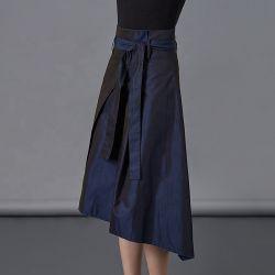2020 El verano de mayor venta irregular de la correa de proa a la mujer una línea asimétrica de falda