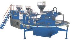 Trois couleurs en plastique rotative automatique PVC TPR Slipper Machine de moulage par injection supérieure