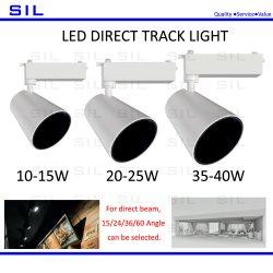 Boutique de vente chaude Commercial voie lumière LED 20watt 10W 15W 20W 25W 30W 40W stocke la lumière témoin 20W voie