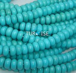 La turquoise Rondel Perles (21 RONDEL 1-02)