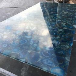 Backlit halb kostbarer Stein-blauer Achat-Großhandelsstein