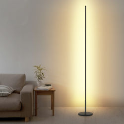 현대적인 미니멀리스트 리모콘 RGB 색상 변경 플로어의 라이트 알루미늄 단순함 침실 위치 LED 스탠딩 플로어 램프