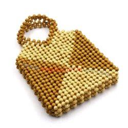 編むこと袋多彩な玉が付く袋党袋ハンドメイドの玉が付く袋キャンデー袋のキャンディ袋に玉を付ける袋のかぎ針編みに玉を付ける