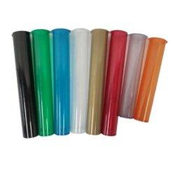 Les bouteilles médical colorés pré laminés haut articulée flacons Tubes de mauvaises herbes commune Pop haut des tubes en plastique avec bouchon à vis de preuve de l'enfant