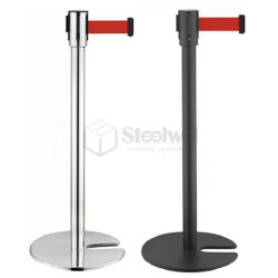U-Shape balustrade Stand file empilables barrière poteau de poste de base de la courroie escamotable Stand