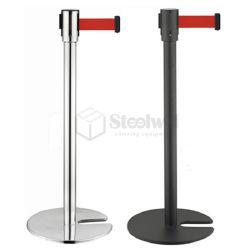 U-Form stapelbare Warteschlange-Sperren-Pfosten-Pfosten-Unterseiten-einziehbarer Riemen-Fahnen-Standplatz