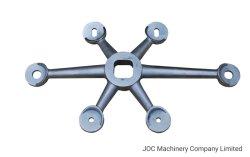 6 vias para braço de Aço Inoxidável Aranha de vidro de parede de Cortina