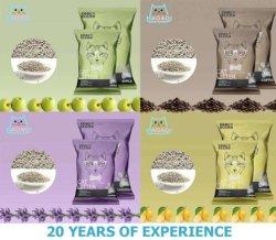 Bolsas de polietileno de nuevo por la marca Coolclean bentonita con arena de gato con aromas de rápida absorción y Stong agrupamiento y Super Control de olores