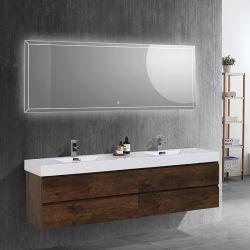 أوكايفول هوت سالي عالية الجودة 84 بوصة مزدوجة النانش العائمة أثاث خزانة حوض حمام على الحائط