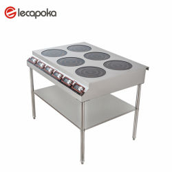 Melhoria Permanente portátil de cerâmica AC Indução Limpo Cook Coreia 6 Bobina de seis queimadores fogão eléctrico chinês comercial