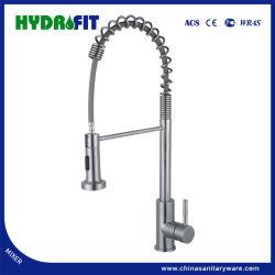 La singola molla della maniglia estrae giù il miscelatore standard americano dell'acqua del rubinetto della cucina (FT1110-1)