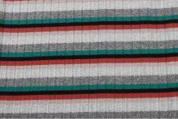Высокое качество Silver Color-Stripes 9X4 спандекс полиэстер вязки Rainbow ребра ткани