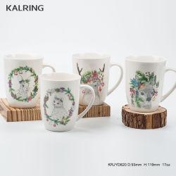 7 taza de cerámica de la placa de 5.5''el tazón taza y plato con la personalización de diseño Animal verde