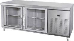 acero inoxidable mesa de trabajo de cocina nevera / Banco de trabajo / Enfriador refrigerador contador con el gabinete